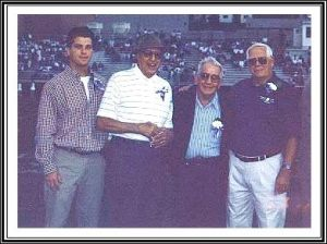 Walt Ligenza's grandson, Matt, Sam Pagano, Harry Fetterman, and Dick Jones